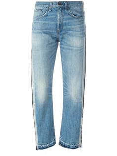striped trim cropped jeans  Rag & Bone /Jean