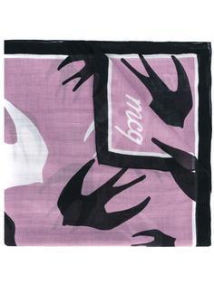 шарф с рисунком в виде птиц McQ Alexander McQueen