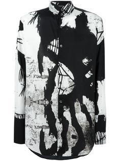 рубашка с рисунком Ann Demeulemeester Blanche