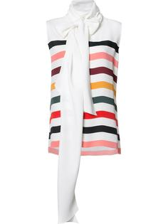striped sleeveless blouse Carolina Herrera