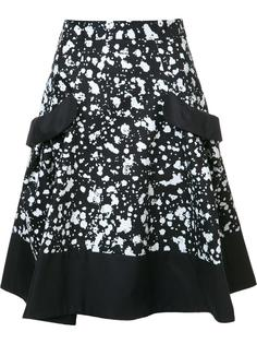 splatter paint skirt Carolina Herrera