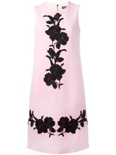 платье-шифт с вышивкой в виде роз Dolce & Gabbana