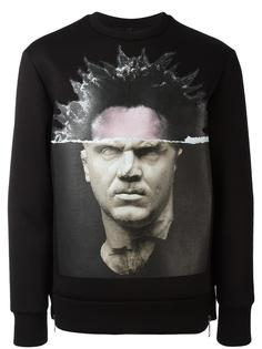 portrait print sweatshirt Neil Barrett