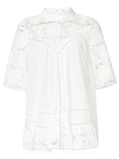 блузка с вышивкой Zimmermann