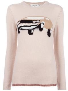 свитер с рисунком 'Car' в технике интарсия Coach