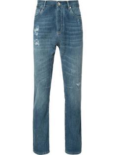 джинсы с потертой отделкой Brunello Cucinelli