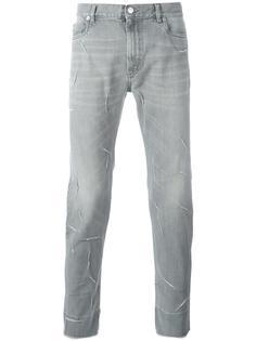 джинсы кроя слим с потертой отделкой Maison Margiela