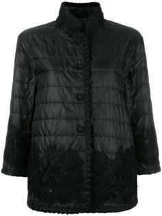 стеганая куртка с кружевной отделкой Ermanno Scervino