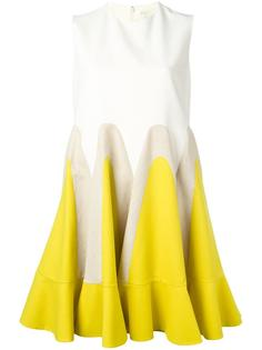 colour block flared dress Delpozo