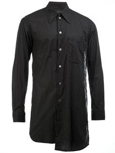 удлиненная рубашка с нагрудным карманом Ann Demeulemeester Grise