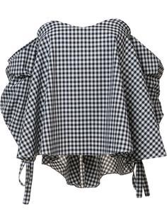 блузка с заниженной линией плеч Caroline Constas