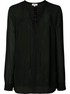 блузка со шнуровкой L'agence