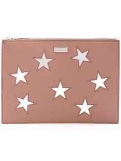 клатч с вышивкой звезд Stella McCartney
