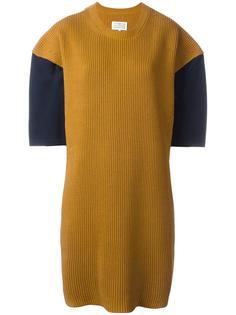 платье в рубчик дизайна колор-блок Maison Margiela
