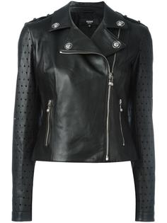 байкерская куртка с перфорацией Versus