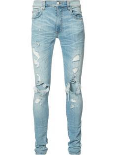 джинсы скинни с рваной отделкой Amiri