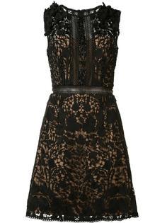 кружевное платье с цветочным узором Marchesa Notte