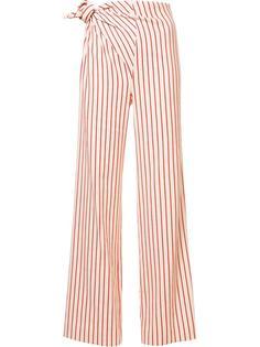 полосатые брюки с узлом сбоку Rosie Assoulin