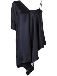 драпированная блузка с асимметричными рукавами Maison Margiela