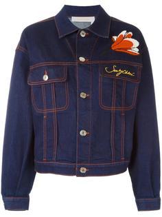 джинсовая куртка с цветочной аппликацией See By Chloé
