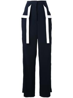 брюки палаццо с контрастными полосами Dion Lee
