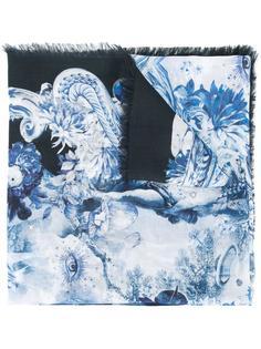 платок с узором Roberto Cavalli