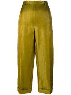 брюки с эффектом металлик Christian Wijnants