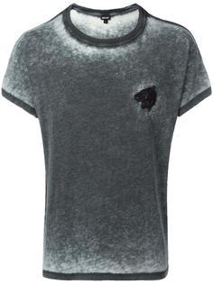 футболка с вышивкой тигра Just Cavalli