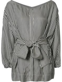 полосатая блузка с присборенной талией Zimmermann