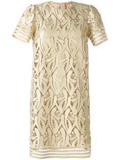 платье с металлизированной вышивкой Nº21