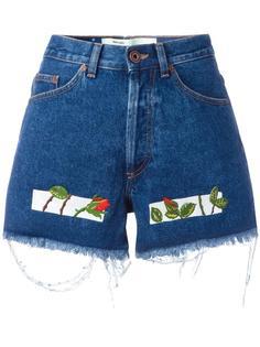 джинсовые шорты с вышивкой Off-White
