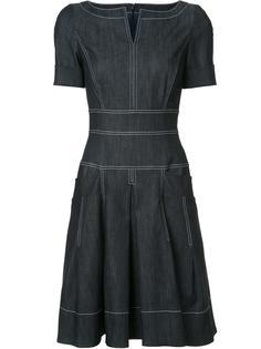джинсовое платье с короткими рукавами  Carolina Herrera