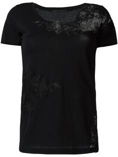 футболка с кружевной деталью Ermanno Scervino