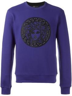 Medusa leather detail sweatshirt Versace
