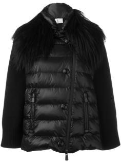 дутая куртка с меховым воротником Moncler Grenoble
