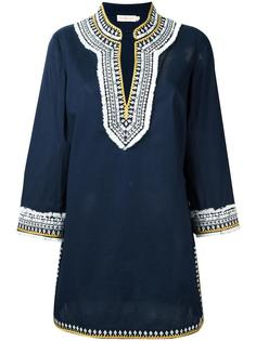 платье-туника с вышивкой Tory Burch