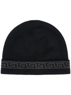 шапка-бини с греческим орнаментом Versace