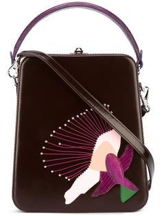 сумка через плечо с вышивкой Bertoni 1949