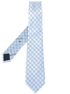 галстук с монограммным узором Gucci