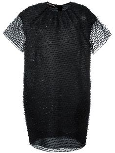 платье-шифт с прозрачным слоем Rochas