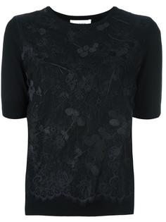 lace overlay knitted top Carven