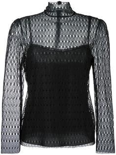кружевная блузка с высокой горловиной Philosophy Di Lorenzo Serafini