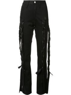 брюки с переплетенными ремешками Nicopanda