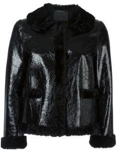 укороченная куртка из овчины с потрескавшимся эффектом Marc Jacobs