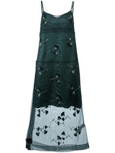 платье с цветочными элементами Nº21