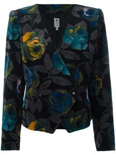 пиджак с цветочным принтом Emanuel Ungaro Vintage