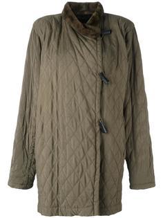 стеганая куртка с меховой оторочкой Yves Saint Laurent Vintage