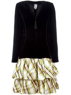 платье с подолом в клетку Emanuel Ungaro Vintage