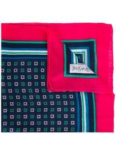 нагрудный платок с контрастной окантовкой Yves Saint Laurent Vintage