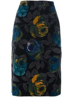 юбка с цветочным принтом Emanuel Ungaro Vintage
